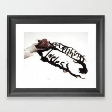 and all things loveless Framed Art Print