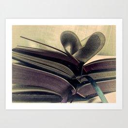 Book Still Life Library Art Heart Modern Cottage Country Art A429 Art Print