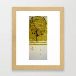 Yellow Collard Shirt Framed Art Print