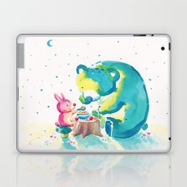 Bear with Rabbit - My Beary Berries Friend Laptop & iPad Skin