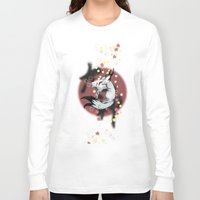 okami Long Sleeve T-shirts featuring Okami Amaterasu by @Milre_art