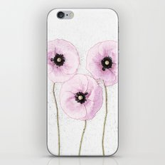 Delicate Poppies iPhone & iPod Skin