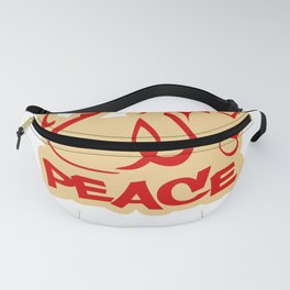 peace word in arabic and english Fanny Pack