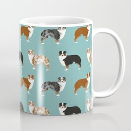 Australian Shepherd owners dog breed cute herding dogs aussie dogs animal pet portrait hearts Coffee Mug