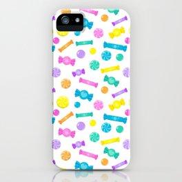 Pastel Rainbow Candy Shop Pattern iPhone Case