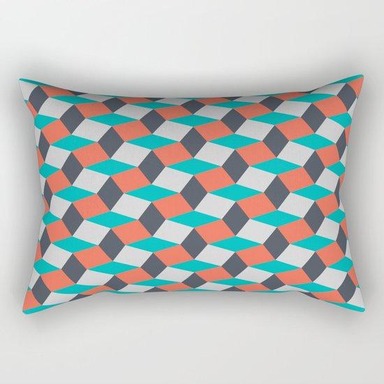Four Colors Rectangular Pillow
