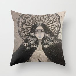 She Brings The Night Throw Pillow
