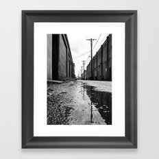 Gritty Tacoma alley Framed Art Print