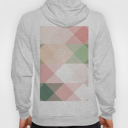 Modern blush tones pink abstract geometrical triangles Hoody