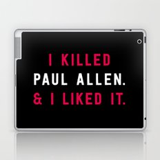 American Psycho - I killed Paul Allen. And I liked it. Laptop & iPad Skin