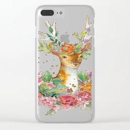 Springtime deer Clear iPhone Case