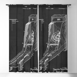 Vintage Skee Ball Patent 1935 Blackout Curtain