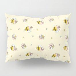 Pug Bee Pattern Pillow Sham