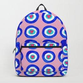 Valentine Evil Eye light pink Backpack