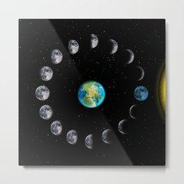 lunar moon cycle Metal Print