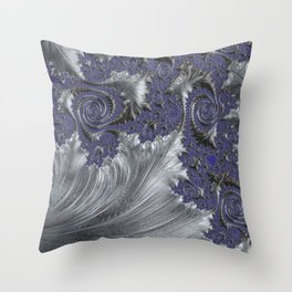 Silver Filigree Throw Pillow