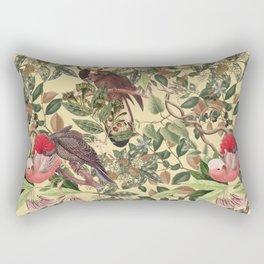Cockatoo parrots in the bush Rectangular Pillow