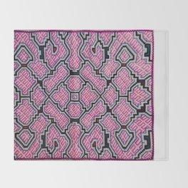 Song of Bringing Things Together - Traditional Shipibo Art - Indigenous Ayahuasca Patterns Throw Blanket
