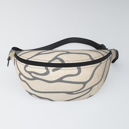 Rose in White Gold Sands on Storm Gray Fanny Pack