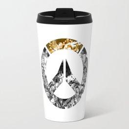 logo over Travel Mug
