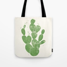 Linocut Cactus #1 Tote Bag
