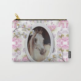 White orchids & Arabian mare Carry-All Pouch
