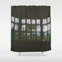 window Shower Curtains featuring Window by Aaron Carberry