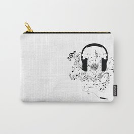 Headphones and Music Notes Carry-All Pouch