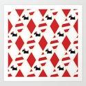 Scottie Dog Christmas Pattern by marianrua