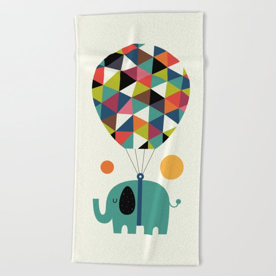 Fly High And Dream Big Beach Towel
