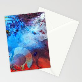 Havoc, abstract organic painting, NYC Artist Stationery Cards