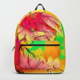 Fall Flowers In Soft Abstract Backpack