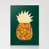 pineapple Stationery Cards featuring Pineapple by Picomodi