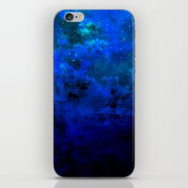 SECOND STAR TO THE RIGHT Rich Indigo Navy Blue Starry Night Sky Galaxy Clouds Fantasy Abstract Art iPhone Skin