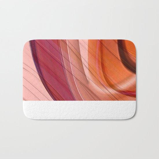 Colorgradient purple and orange Bath Mat