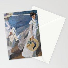 Joaquin Sorolla Y Bastida - Strolling along the seashore Stationery Cards