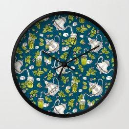 Moroccan Mint Tea Wall Clock
