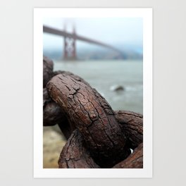 Weathered by the bay Art Print