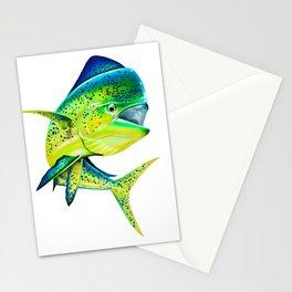 Mahi Time - Lit-Up Mahi Mahi, Dorado, Dolphin Stationery Cards