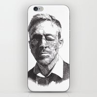 ryan gosling iPhone & iPod Skins featuring Ryan by Rik Reimert