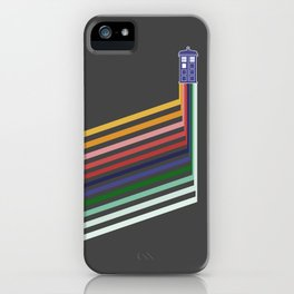 13th Doctor Retro Diagonal Stripes iPhone Case