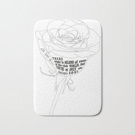 Unique Rose Bath Mat