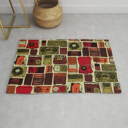 Music Boxes Pattern Rug