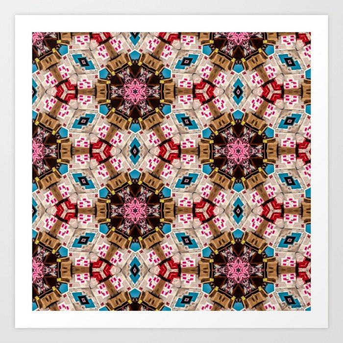 Repeating Fractal Pattern 9 Art Print