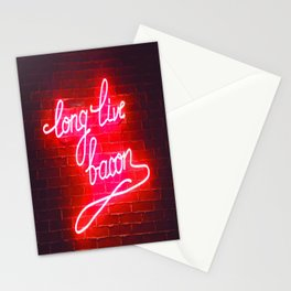 LONG LIVE BACON Stationery Cards