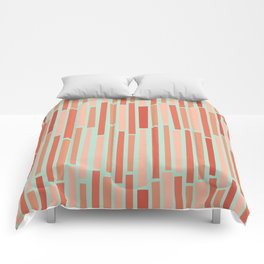 Pink Rows in Mint Comforters