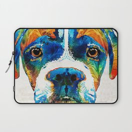 Colorful Boxer Dog Art By Sharon Cummings Laptop Sleeve