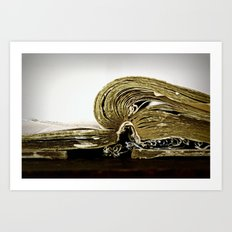Tattered Pages Art Print