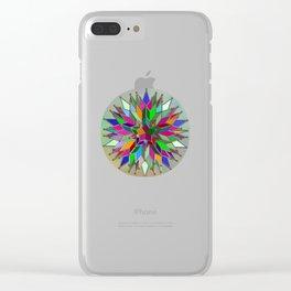 Mandala #106, Star Burst Clear iPhone Case