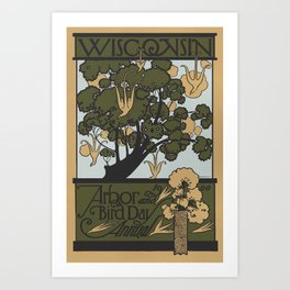 Wisconsin Arbor and Bird Day Annual 1900 Art Print
